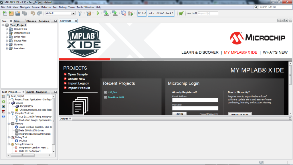 Creating New Project With MPLAB