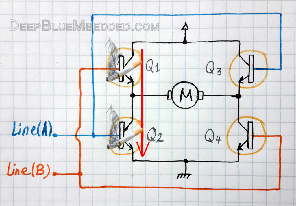 DC Motor Control With PIC - Shoot-Through Current Condition