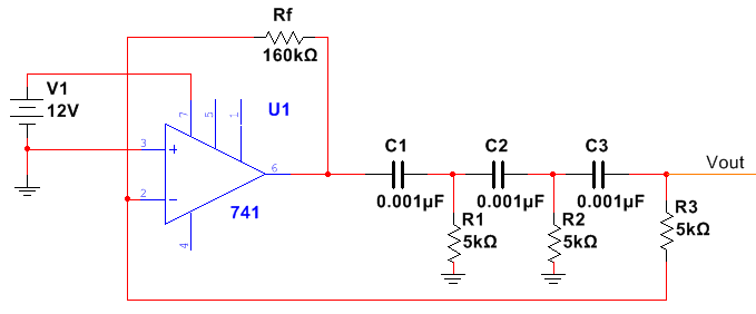 RC Phase Shift Oscillator With Op-Amp Diagram