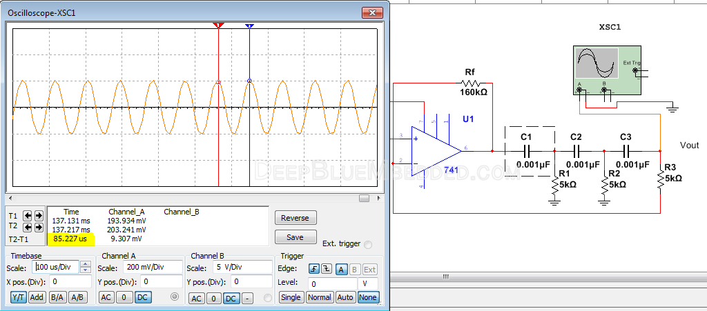 RC Phase Shift Oscillator With Op-Amp Simulation