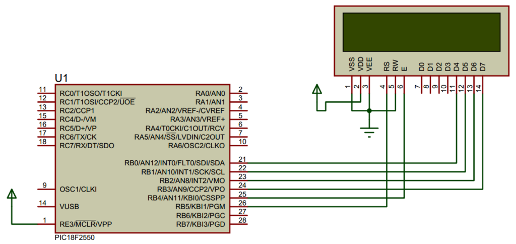 LCD 16x2 Connection With Microcontroller