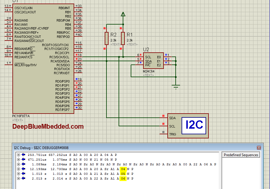 Simulation I2C EEPROM LAB1