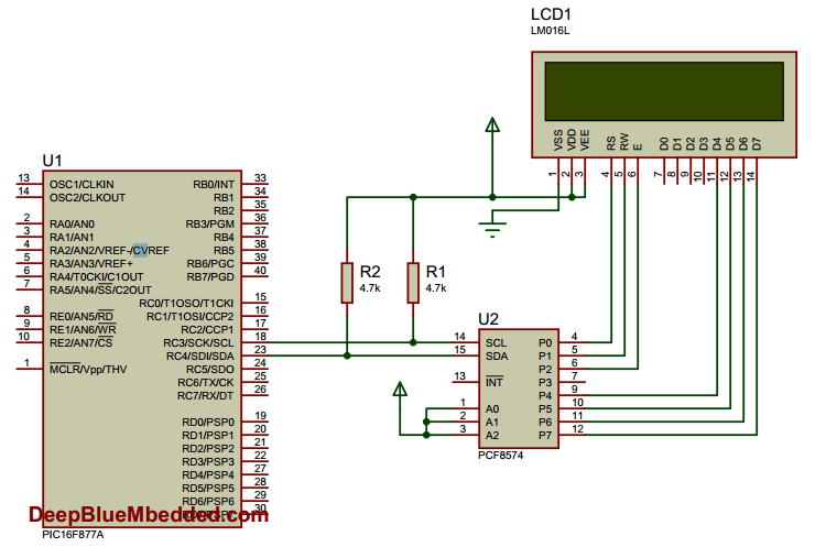 I2C LCD Connection Diagram