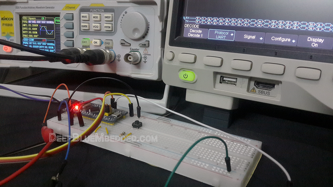 STM32 Frequency Counter Example - Timer Module Counter Mode Frequency Counter Project