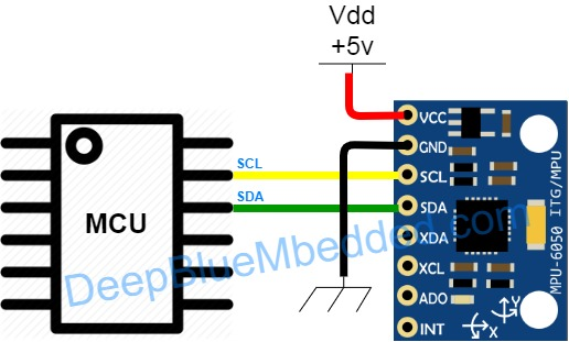 MPU6050 Pinout And Connection Diagram With PIC Microcontrollers