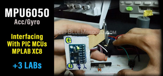 MPU6050 Tutorial With PIC XC8