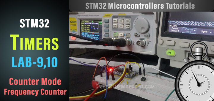 STM32 Frequency Counter Project - Timer Module Counter Mode Frequency Counter