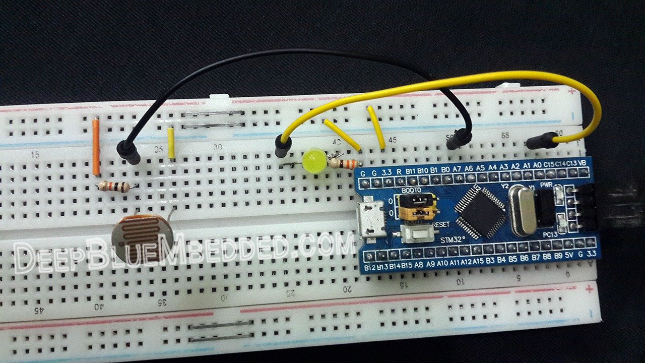 STM32 Light Sensor Interfacing Project - STM32 Projects And Tutorials