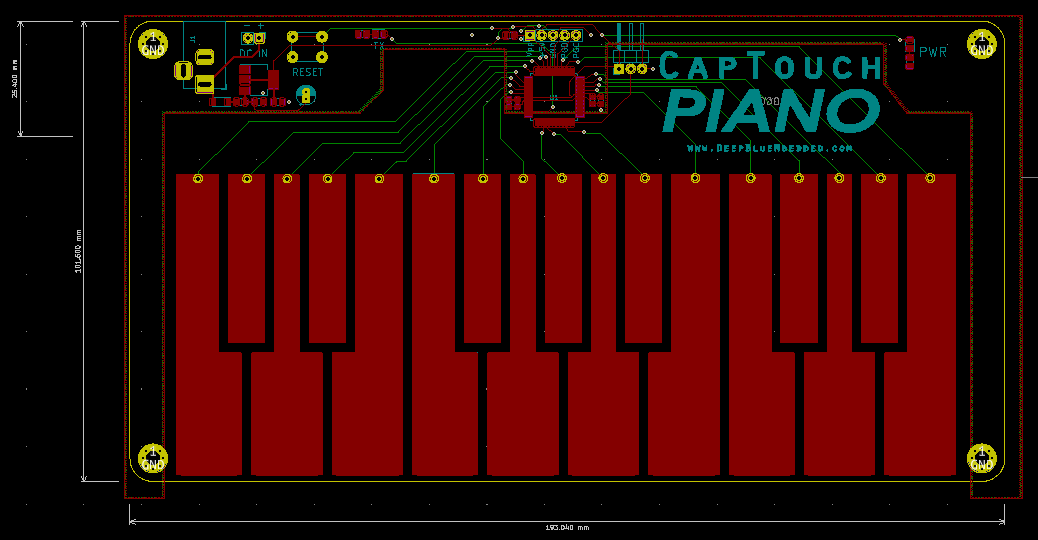 Capacitive Touch Piano PCB Routing