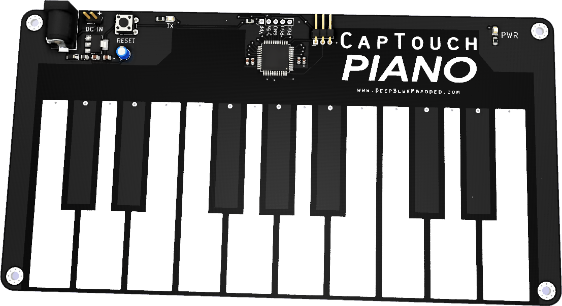 Capacitive Touch Piano PCB PNG