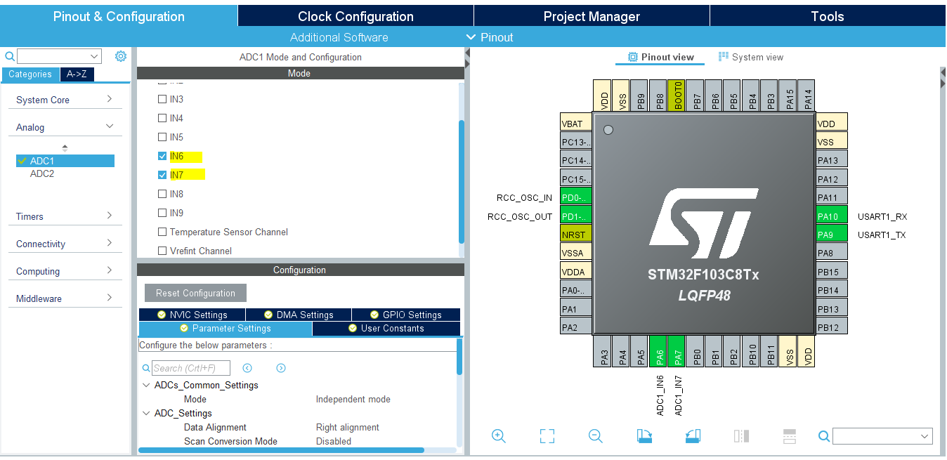 STM32 Joystick Library Driver With ADC