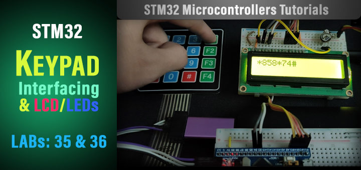 STM32 Keypad LCD Tutorial Library Examples