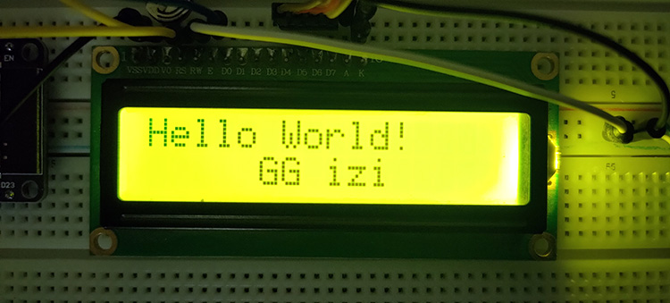 ESP32 LCD 16x2 Display Without I2C LAB1