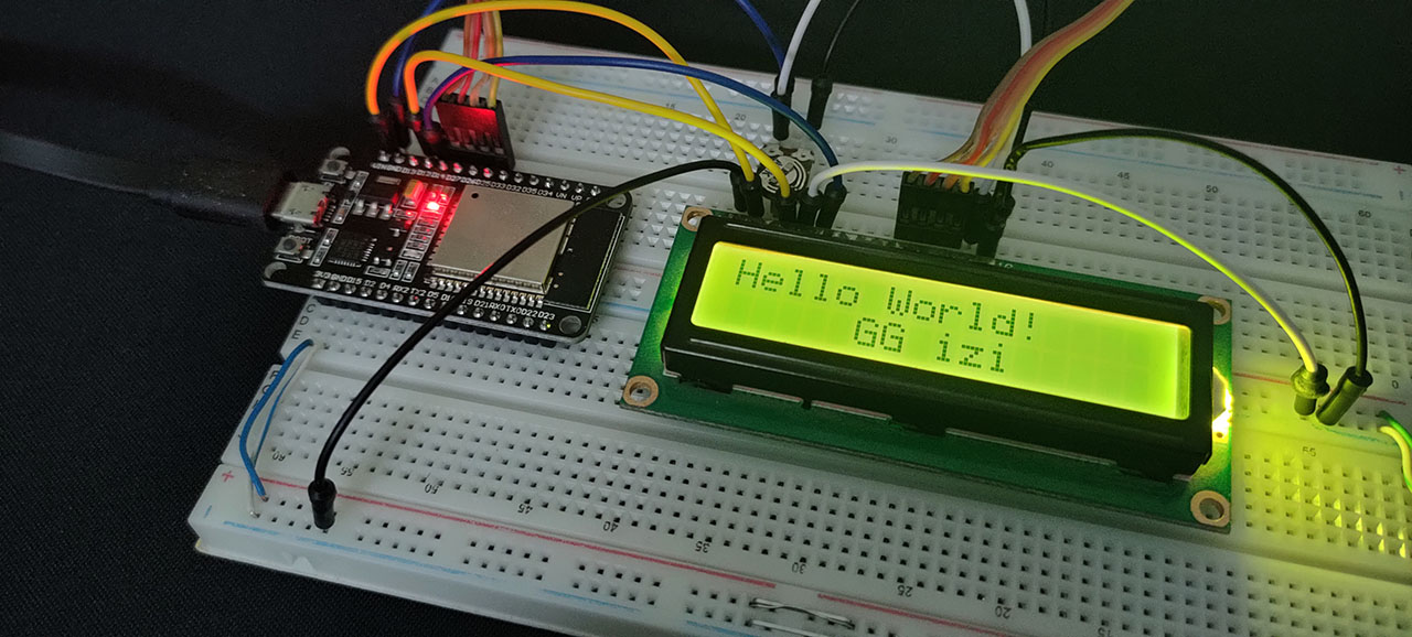 ESP32 LCD 16x2 Display Without I2C LAB14